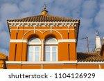 detail of historic building in... | Shutterstock . vector #1104126929