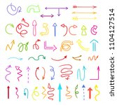 arrows. colored infographic... | Shutterstock . vector #1104127514