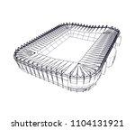 football stadium vector 3d... | Shutterstock .eps vector #1104131921