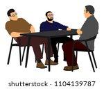 potential worker in a job... | Shutterstock .eps vector #1104139787
