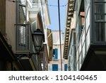 mediterranean city house facade ... | Shutterstock . vector #1104140465