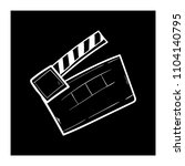 contour clapper board video... | Shutterstock .eps vector #1104140795
