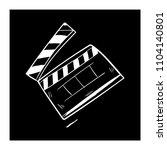 contour clapper board video... | Shutterstock .eps vector #1104140801