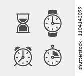 clock flat vector icons set.... | Shutterstock .eps vector #1104143099