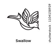 Stock vector swallow icon vector isolated on white background for your web and mobile app design swallow logo 1104158939