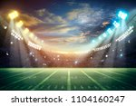 american football stadium.... | Shutterstock . vector #1104160247