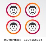 human smile face icons. happy ... | Shutterstock .eps vector #1104165395