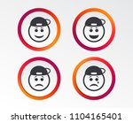 rapper smile face icons. happy  ... | Shutterstock .eps vector #1104165401