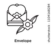 envelope icon vector isolated...