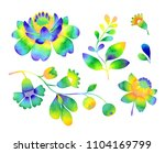 rainbow floral set of... | Shutterstock . vector #1104169799
