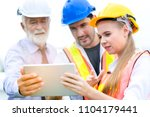 group of professional engineer... | Shutterstock . vector #1104179441