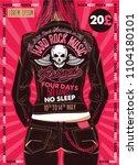 hard rock festival poster.... | Shutterstock .eps vector #1104180101