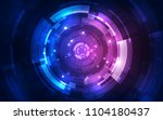 abstract futuristic digital... | Shutterstock .eps vector #1104180437