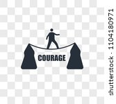 courage vector icon isolated on ... | Shutterstock .eps vector #1104180971