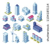 city buildings 3d isometric... | Shutterstock .eps vector #1104185114