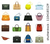 female fashion leather handbags ... | Shutterstock .eps vector #1104185129
