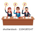 jury. judges group show... | Shutterstock .eps vector #1104185147