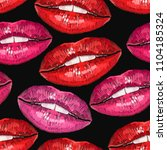 embroidery lips. sexy wet lip... | Shutterstock .eps vector #1104185324