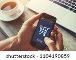 shopping online on internet... | Shutterstock . vector #1104190859