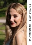 beautiful blonde girl. portrait ...   Shutterstock . vector #1104196781