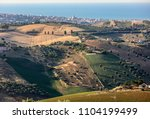 panoramic view of olive groves... | Shutterstock . vector #1104199499