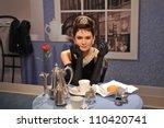 Постер, плакат: Audrey Hepburn waxwork figure