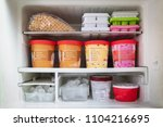 full of bucket container ice... | Shutterstock . vector #1104216695
