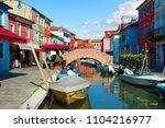bridge in summer burano  italy | Shutterstock . vector #1104216977