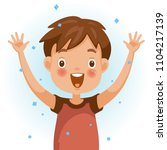 excitement boy. one person in... | Shutterstock .eps vector #1104217139