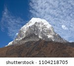 Small photo of Mountain peak view from Ama Dablam Base camp in Sagarmatha National Park, Nepal Himalaya