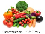 vegetable isolated on a white... | Shutterstock . vector #110421917