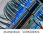 a number of numbered wires... | Shutterstock . vector #1104226421
