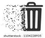 dispersed trash bin dotted... | Shutterstock .eps vector #1104228935