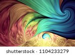 abstract fractal patterns and... | Shutterstock . vector #1104233279