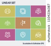 hr icon set and collaboration... | Shutterstock .eps vector #1104236387