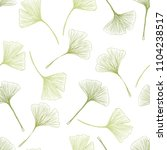 ginkgo biloba leaf seamless... | Shutterstock .eps vector #1104238517