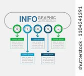 vector infographic template for ... | Shutterstock .eps vector #1104241391