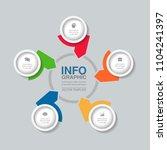 vector infographic template for ...   Shutterstock .eps vector #1104241397