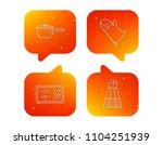 saucepan  potholder and salt...   Shutterstock .eps vector #1104251939