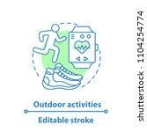 jogging concept icon. outdoor... | Shutterstock .eps vector #1104254774