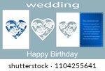 the inscription happy birthday  ... | Shutterstock .eps vector #1104255641