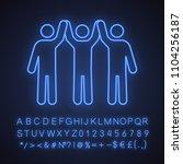 charity organization neon light ... | Shutterstock .eps vector #1104256187