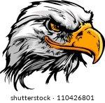vector bald eagle or hawk head... | Shutterstock .eps vector #110426801