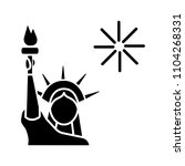 the statue of liberty glyph... | Shutterstock .eps vector #1104268331