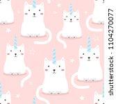cats are unicorns  stars  hand... | Shutterstock .eps vector #1104270077