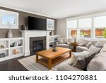 living room interior in new... | Shutterstock . vector #1104270881