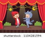 vector illustration of kids art | Shutterstock .eps vector #1104281594