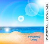 beach sea sky summer sun. | Shutterstock .eps vector #1104287681