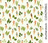 vector seamless pattern with... | Shutterstock .eps vector #1104290861