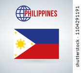 philippines flag vector... | Shutterstock .eps vector #1104291191